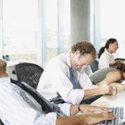 rex business people laughing in office